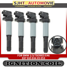 4x Ignition Coils For BMW 1.3.5.7 Series E39 E46 E87 E88 E90 120i 316i 318i