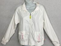 Nike Women's Lined Jacket Size Large Full Zip Windbreaker  ZIP In Hood NWOT