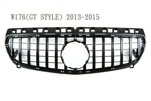 Front Grille Glossy Black GT Style For '2013-'2015 Mercedes Benz W176 A-Class