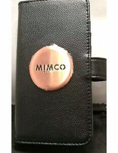 BNWT MIMCO MIM Flip Case For iPhone 6 PLUS 7P 8P BLACK ROSE GOLD Brushed Logo