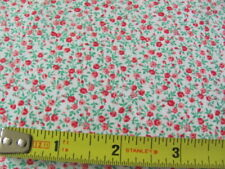 Vintage quilting weight cotton tiny pink and green design print
