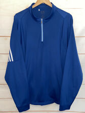 Men's Adidas ClimaLite Long Sleeve 1/4 Zip Pullover Shirt Blue Xl Extra Large