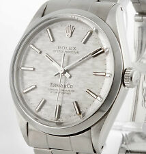 Rolex Oyster Perpetual Tiffany & Co Automatik Stahl an Oysterband Ref.1002
