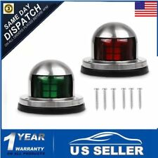 1 Pair Marine Boat Yacht LED Bow Light Stainless Steel Navigation Lamps 12V US