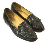 Giorgio Brutini Genuine Crocodile Loafers Size 10 Style 92212 Brown Tone