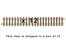 """PIKO 35208 G600 Straight Track 600mm / 23.6"""", 12 Pieces G Scale/One Gauge Track"""