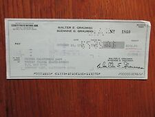 WALTER E. GRAUMAN (Murder, She Wrote-director)Signed 1973 Personal Cancell Check