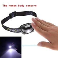Rechargeable CREE Q5 LED 3000LM Body Motion Sensor 4 Modes Head Lamp Headlight