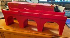 Hornby R180 triple viaduct  - original red brick - boxed VGC