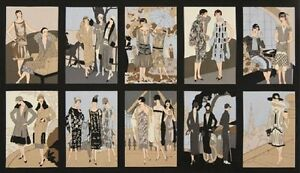 "Pre-Cut Panel (23"" x 43"") Glamour Girls AWU-16515-200 Vintage by World Art Group"