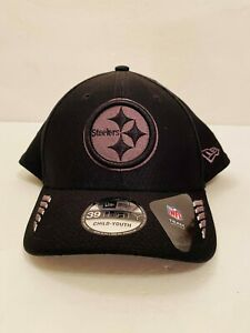Pittsburgh Steelers New Era NFL Child/Youth Size Hat Black & Silver NEW NWT