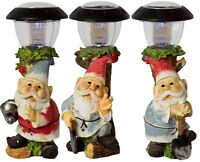 Outdoor Garden Gnome Patio Solar Powered LED Light Statue Figurine Novelty Lamp
