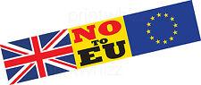 NO a EU Europa uscita brexit Auto Adesivo Finestra Porta Business Van Taxi