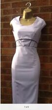 50'S VINTAGE LILAC PENCIL WIGGLE DRESS SIZE 10