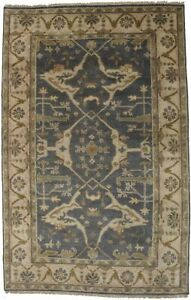 Oushak Floral Design Hand-Knotted 5X8 Oriental Area Rug Home Decor Foyer Carpet