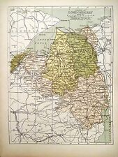 Irish Map County LONDONDERRY Derry Portrush N Ireland Color PW Joyce 1905 7x9.5