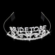 Bachelorette Hen Party Crown Bride to Be Tiara Bridal Shower Wedding Headband