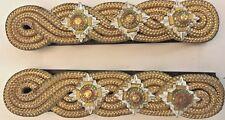 "Military Captain's Dress Gold Braid Shoulder Boards ""tria juncta in uno"" #5015"