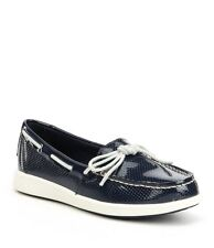 Sperry Top-Sider Oasis Canal Patent Perf Boat Shoes Navy Women's