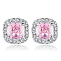 925 Sterling Silver Crystal Stone Stud Earrings Womens Girls Jewellery Gift New