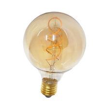 LAMPADINA LED 5W G95 E27 LUCE CALDA FILAMENTO GLOBO VINTAGE AMBRATA RETRO' SC0