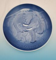 1986  Bing & Grondahl B&G Mother's Day Plate Elephant With Calf No box