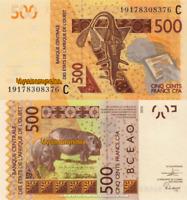 WEST AFRICAN STATES, BURKINA FASO,500, 2019, Code C, PNEW, New Signature, UNC