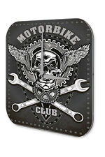 Wall Clock Retro Biker Decoration Motorcycle Club Acryl Acrylglass