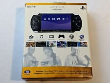 Sony PSP 3001 Black Handheld System + Original Box - TESTED WORKS GREAT!
