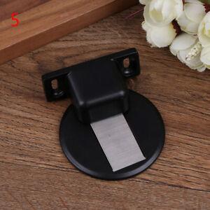 StainlessSteel Strong Magnetic Door Stop Floor Mount Self Adhesive Door Stopp^qi