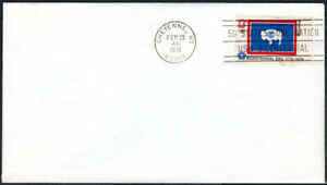 US FDC, SC#1676, State Flag Wyoming, state cancel, No Cachet, 1976