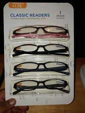 IMAGE READERS -CLASSIC  EYEGLASSES-WOMEN'S- 4 PACK-BRAND NEW +1.75