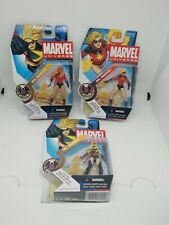 "Marvel Universe 3.75"" Ms. Marvel Figure Lot Series 1 - #22 variant, #22 & #23"