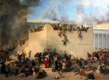 Destruction of the Temple of Jerusalem by Francesco Hayez Old Masters 8x10 Print