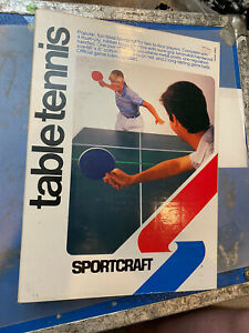 Sportcraft Table Tennis Set Open Box With Extra Net