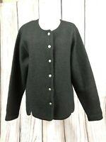 Ladies ORVIS Vintage Style Pure Wool Cardigan Press Stud Size XL