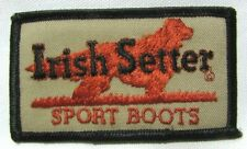 Vintage Irish Setter Sport Boots Patch Quality Leather Work Dog Advertising NOS