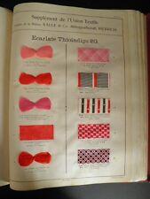L'UNION TEXTILE GAND 1910 TISSAGE TEINTURE DENTELLE SOIE 179 ECHANTILLONS RARE