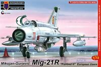 MiG-21 R FISHBED H (POLISH, ROMANIAN & CZECHOSLOVAK MKGS)#86 1/72 KOVOZAVODY