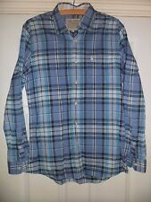 Mens Jack Wills Blue Check Cotton Shirt Size Small