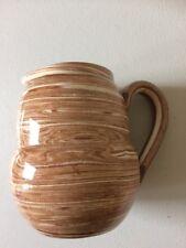 "Early H.J.Wood Hand-painted Burslem Pottery Milk Jug - 4"" tall"