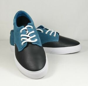 LACOSTE L!VE LIVE Barbados Grained Leather and Smooth Suede Sneakers Shoes Men