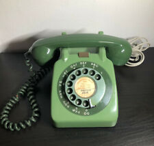 More details for vintage green 706l rotary dial up telephone with modern plug 1964