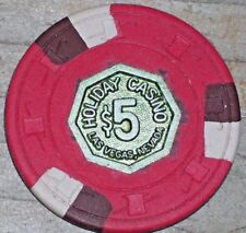 $5 3RD EDITION R7 GAMING CHIP FROM THE HOLIDAY CASINO LAS VEGAS 1973
