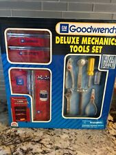 """Vintage Toy Tool Box Tools GM Goodwrench Racing Plastic 11.5"""" FunRise New In Box"""