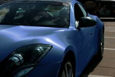 "5ft x 60"" Navy Blue brushed steel vinyl car wrap DIY sheet roll film satin"