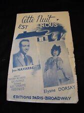 Questa Partizione notte è quello di noi Jeans Navarre Elyane Dorsay Music Sheet