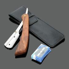 Handle Folding Knife Straight Edge Shaving Razor with 10 Blades Barber Blades