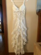 VINTAGE White Lace Nightgown Sheer Lingerie Sexy White Bridal 2X By Escante
