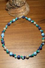 Neu unikat blau Polariskette Halskette Polaris perlen kette türkis hellblau